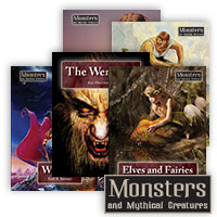 Monsters and Mythical Creatures Series - 15 Hardcover Books